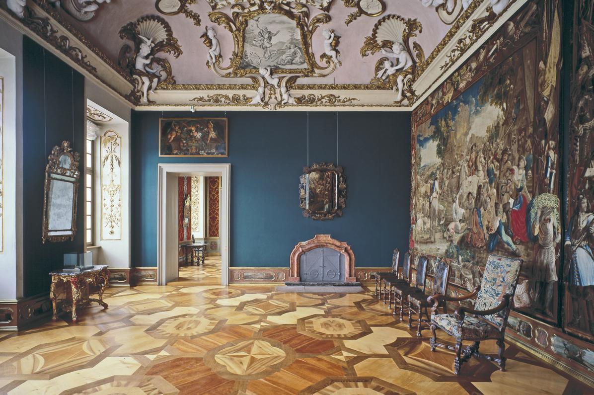 Raumansicht des Audienzzimmers von Markgraf Ludwig Wilhelm