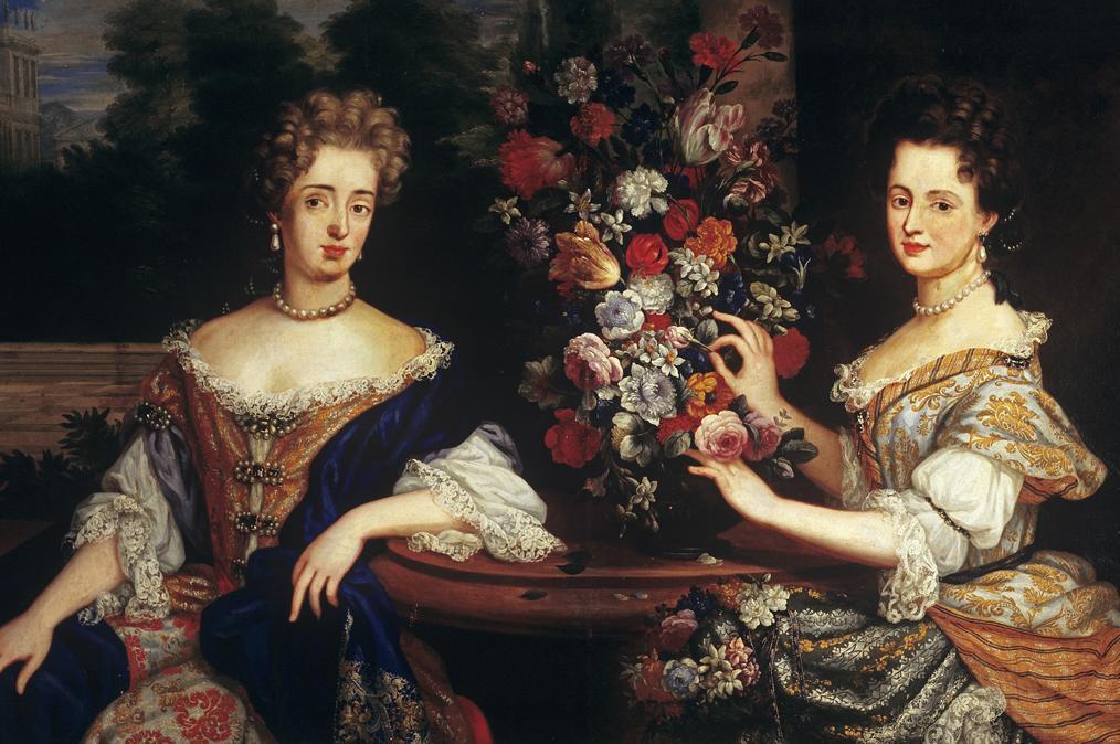 Sibylla Augusta and Anna Maria Franziska von Sachsen-Lauenburg, painting circa 1690. Image: Staatliche Schlösser und Gärten Baden-Württemberg, Arnim Weischer