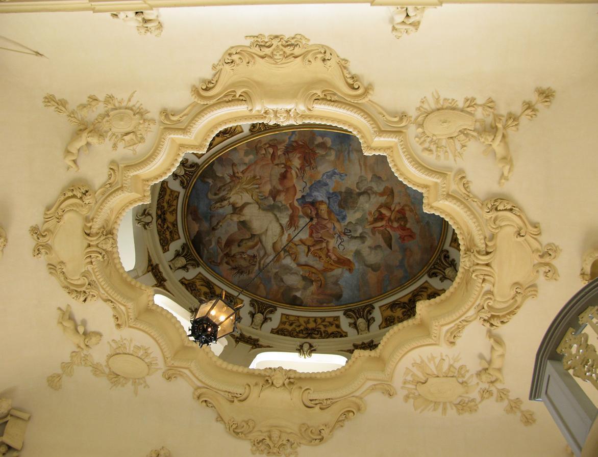 Stuckdetail aus dem Treppenhaus; Foto: Staatliche Schlösser und Gärten Baden-Württemberg, Julia Haseloff