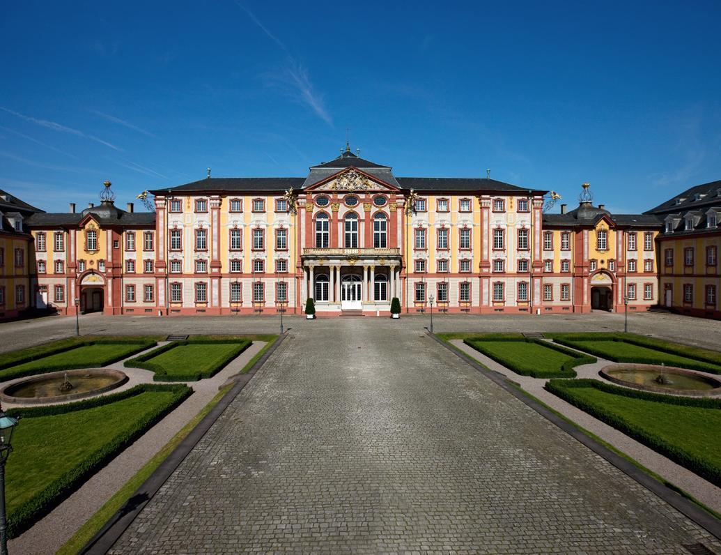 Außenansicht vom Schloss Bruchsal; Foto: Staatliche Schlösser und Gärten Baden-Württemberg, Achim Mende