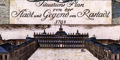 Plan von Schloss und Garten Rastatt aus dem Jahr 1798; Foto: Staatliche Schlösser und Gärten Baden-Württemberg, Arnim Weischer