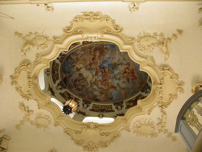 Rastatt Residential Palace, Painted ceiling above the staircase