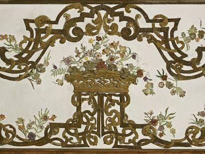 Schloss Favorite Rastatt, Detail aus dem Eckzimmer, Foto: Staatliche Schlösser und Gärten Baden-Württemberg, Arnim Weischer