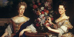 Sibylla Augusta und Anna Maria Franziska von Sachsen-Lauenburg, Gemälde um 1690