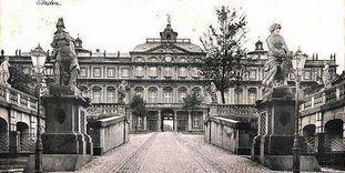 Residenzschloss Rastatt, Postkarte um 1912