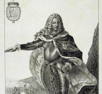 Portrait of Ludwig Wilhelm as an imperial lieutenant general. Image: Staatliche Schlösser und Gärten Baden-Württemberg, Arnim Weischer