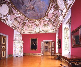 Raumansicht des Vorzimmers von Markgraf Ludwig Wilhelm