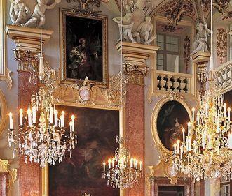 Detailansicht, Ahnensaal, Residenzschloss Rastatt; Foto: Staatliche Schlösser und Gärten Baden-Württemberg, Steffen Hauswirth