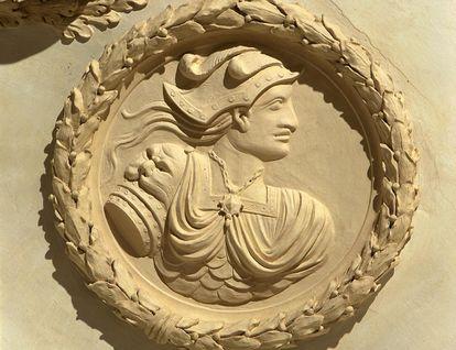 Stucco likeness of Wallenstein. Image: Landesmedienzentrum Baden-Württemberg, credit unknown