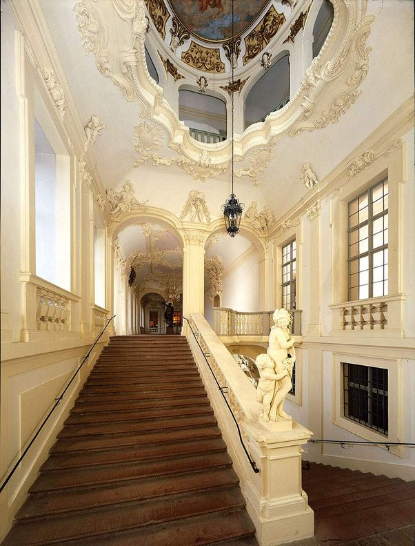 Rastatt Residential Palace, Southern staircase