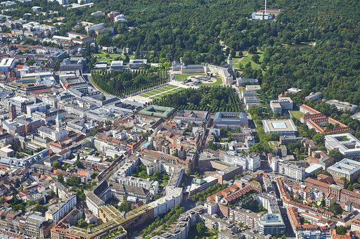 Karlsruher Innenstadt, Luftansicht