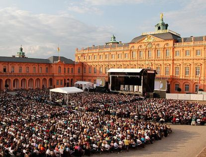 Large open air stage at Rastatt Residential Palace