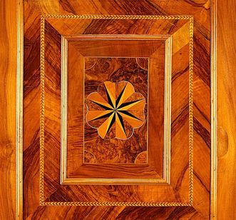 Detail of the wood paneling in the writing cabinet. Image: Staatliche Schlösser und Gärten Baden-Württemberg, credit unknown