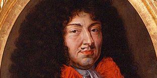Ausschnitt aus dem Porträt Ludwigs XIV., Ende 17. Jahrhundert