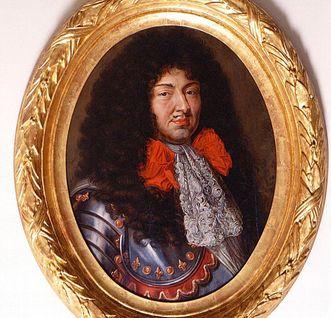 Portrait of King Louis XIV of France, at Heidelberg Palace. Image: Staatliche Schlösser und Gärten Baden-Württemberg, Arnim Weischer