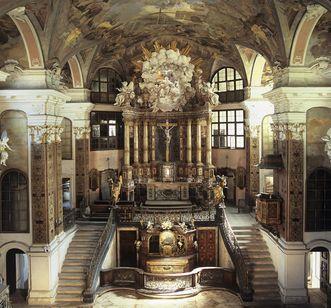 Innenansicht der Rastatter Schlosskirche