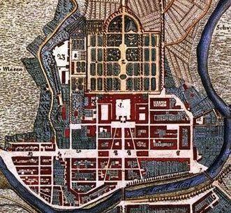 Ideal plan of Rastatt from 1798. Image: Staatliche Schlösser und Gärten Baden-Württemberg, Arnim Weischer