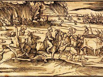 Osmanen beim Plündern und Rauben, Darstellung aus der Türckischen Chronica von Vasco Diaz Tanco