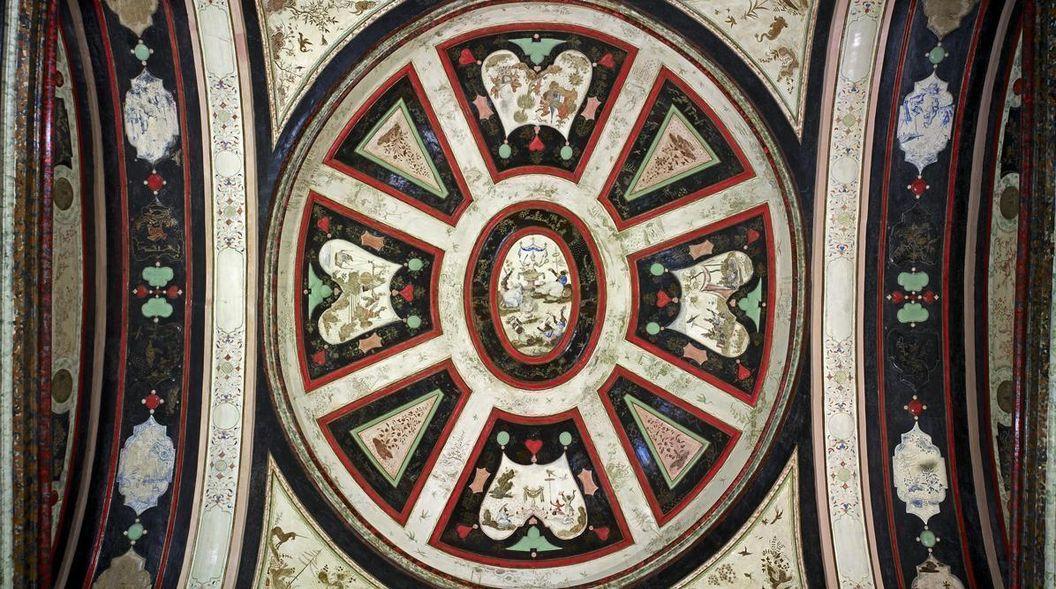 Rastatt Residential Palace, ceiling in the lacquer cabinet. Image: Staatliche Schlösser und Gärten Baden-Württemberg, Andrea Rachele
