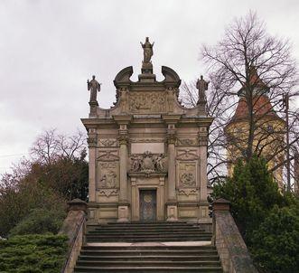 Außenansicht der Einsiedelner Kapelle in Rastatt, Johann Michael Ludwig Rohrer