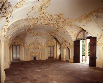 Ansicht des Gartensaals mit Rokoko-Stuckaturen, Residenzschloss Rastatt; Foto: Staatliche Schlösser und Gärten Baden-Württemberg, Andrea Rachele