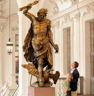 Image: Original Jupiter statue in the ancestral hall antechamber, Rastatt Residential Palace