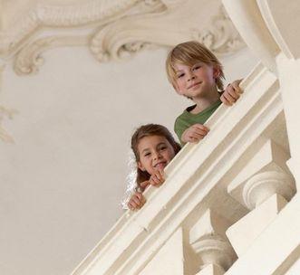 Kinder im Residenzschloss Rastatt