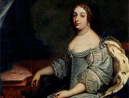 Porträt von Luise Christine von Savoyen-Carignan (1627-1689), von Hofmaler Heinrich Lihl, zwischen 1654 und 1655, im Ahnensaal von Schloss Rastatt; Foto: Wikipedia, gemeinfrei