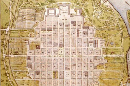 Stadtplan von Mannheim, Wilhelm von Traitteur, 1813