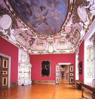 Residenzschloss Rastatt, Vorzimmer im Appartement des Markgrafen