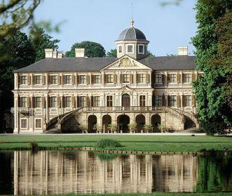 Außenansicht von Schloss Favorite Rastatt