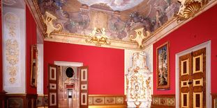 Antechamber to the margravine's apartment, Rastatt Residential Palace.