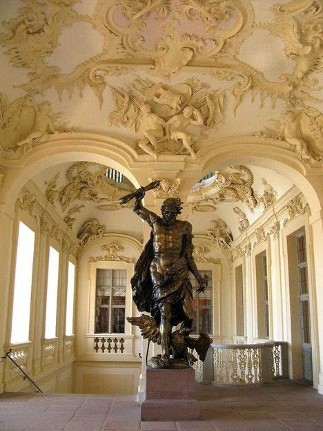 Rastatt Residential Palace, Statue of Jupiter on the staircase
