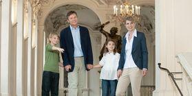 Besucher in Residenzschloss Rastatt