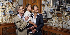 Besucher im Residenzschloss Rastatt