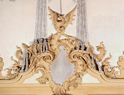 Stuckdetail aus der Sala Terrena; Foto: Staatliche Schlösser und Gärten Baden-Württemberg, Andrea Rachele